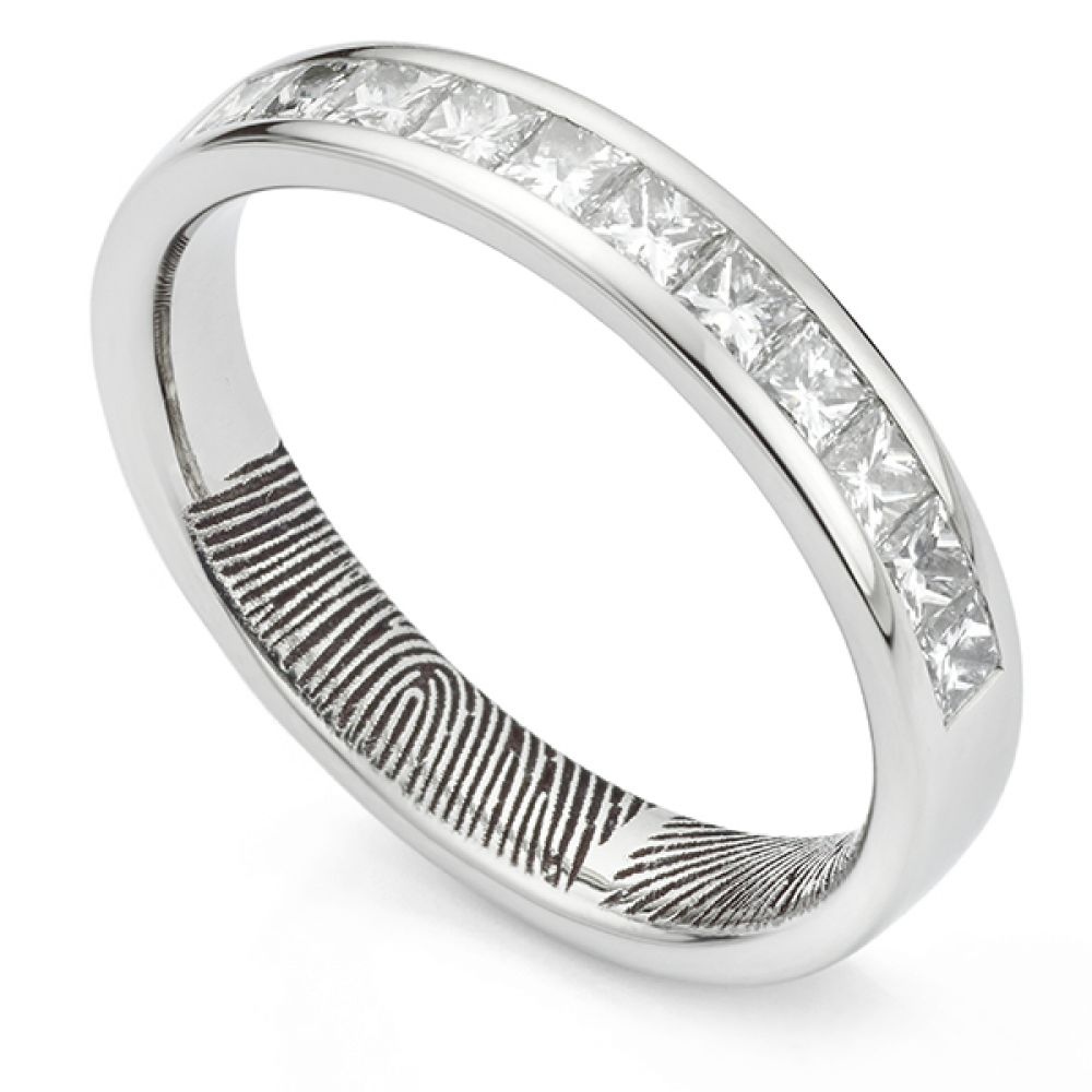 Fingerprint eternity ring - bespoke channel set fingerprint diamond eternity ring