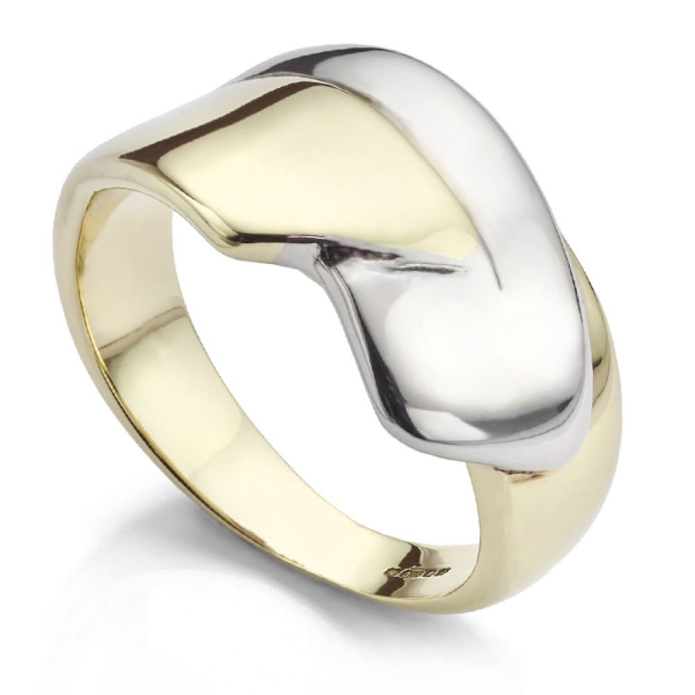 Cherished 9 carat white and yellow gold ring