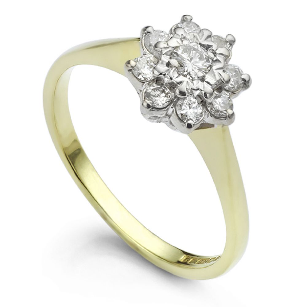 Cherished Daisy diamond cluster ring