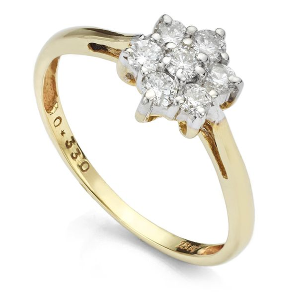 0.33 Carat Cherished Diamond Cluster Ring Main Image