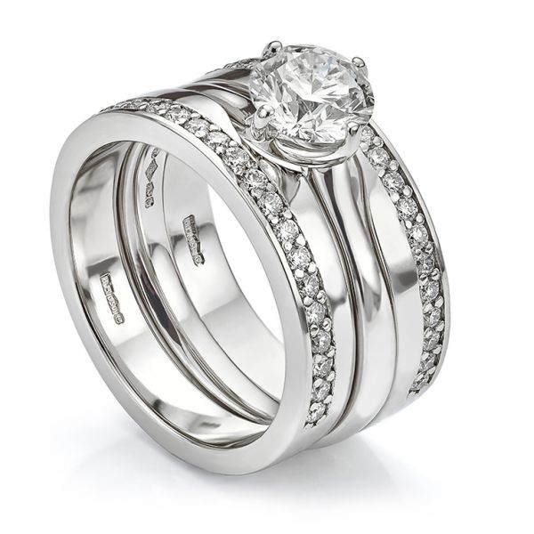 Double Diamond Wedding Ring Set  Main Image