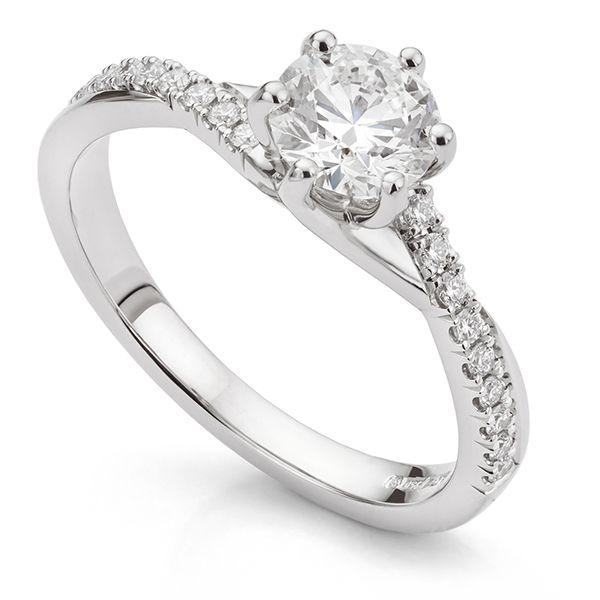 Bespoke Twist Engagement Ring Main Image