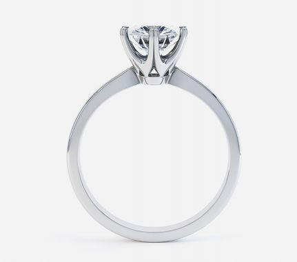 Elegant 6 claw Tiffany style ring design