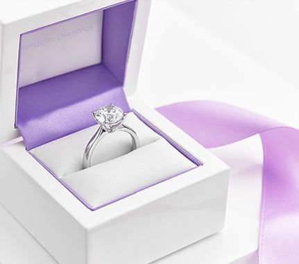Lila solitaire diamond engagement ring