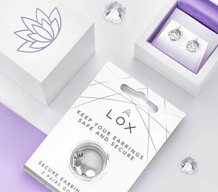 Diamond Stud earrings in packaging