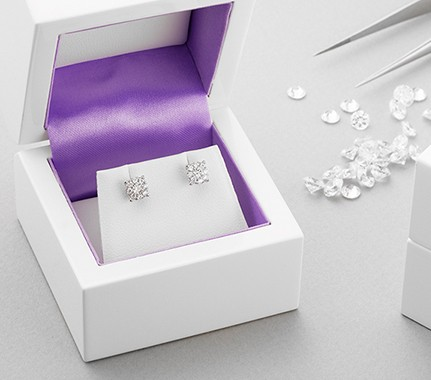Diamond stud earrings from Serendipity Diamonds