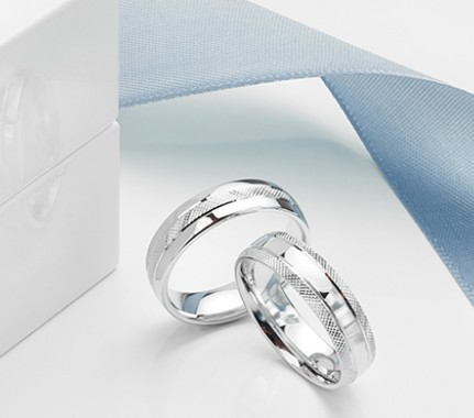 Patterned Wedding Rings with texture