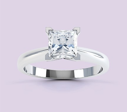 Princess cut engagement ring solitaire design Aurora