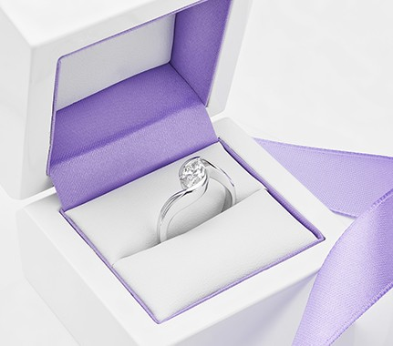 Marquise diamond solitaire engagement ring Ursa design