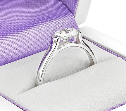 Oval diamond engagement ring collection