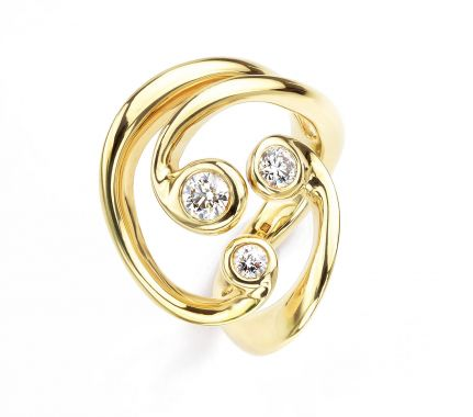 Diamond Cocktail Rings Aurora Borealis Ring