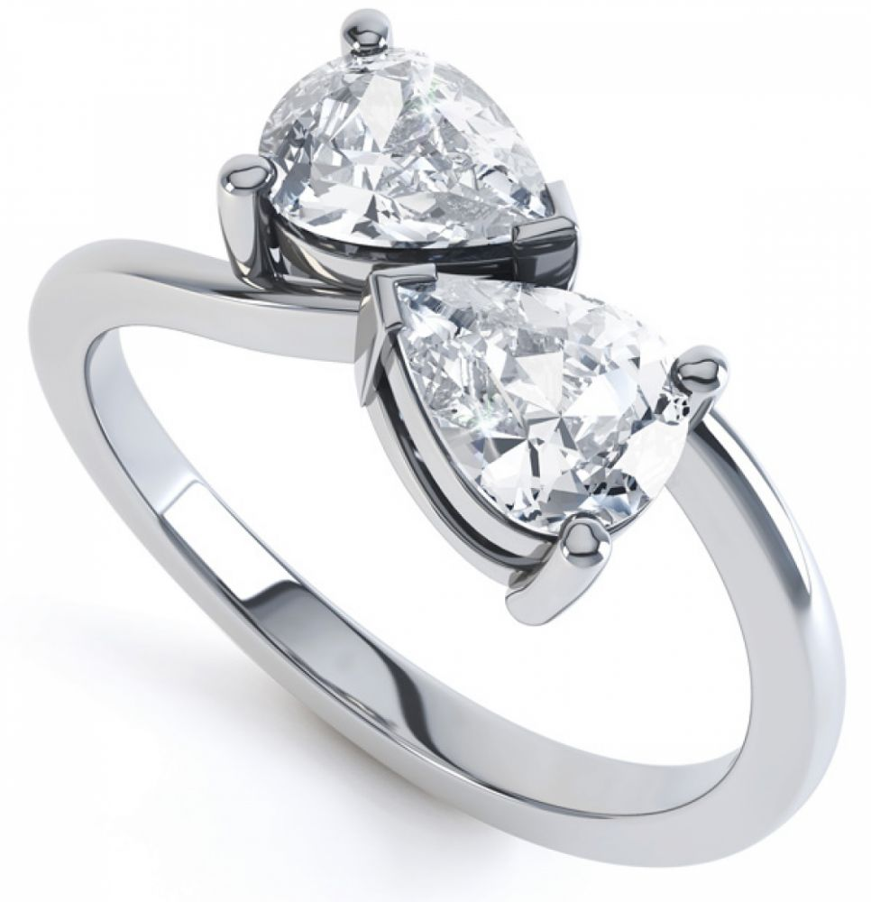 Pear Shaped Two Stone Ring