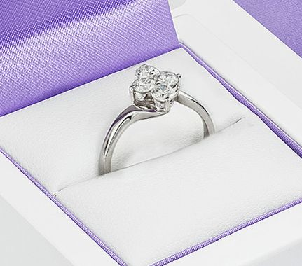 4 Stone Diamond Engagement Ring