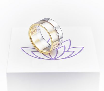 2 colour wedding ring from our special offers