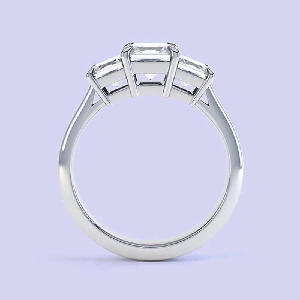 Three stone princess cut engagement ring Trinity