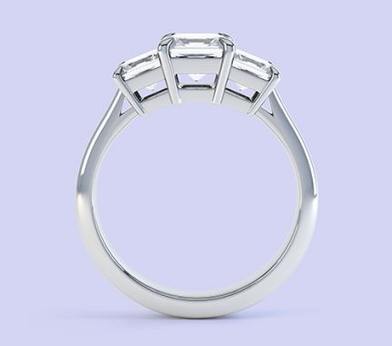 Three stone princess cut engagement ring Trinity