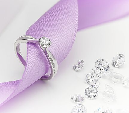 Engagement rings with diamond shoulders