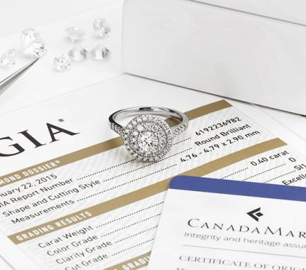 Double halo engagement ring design Audrey