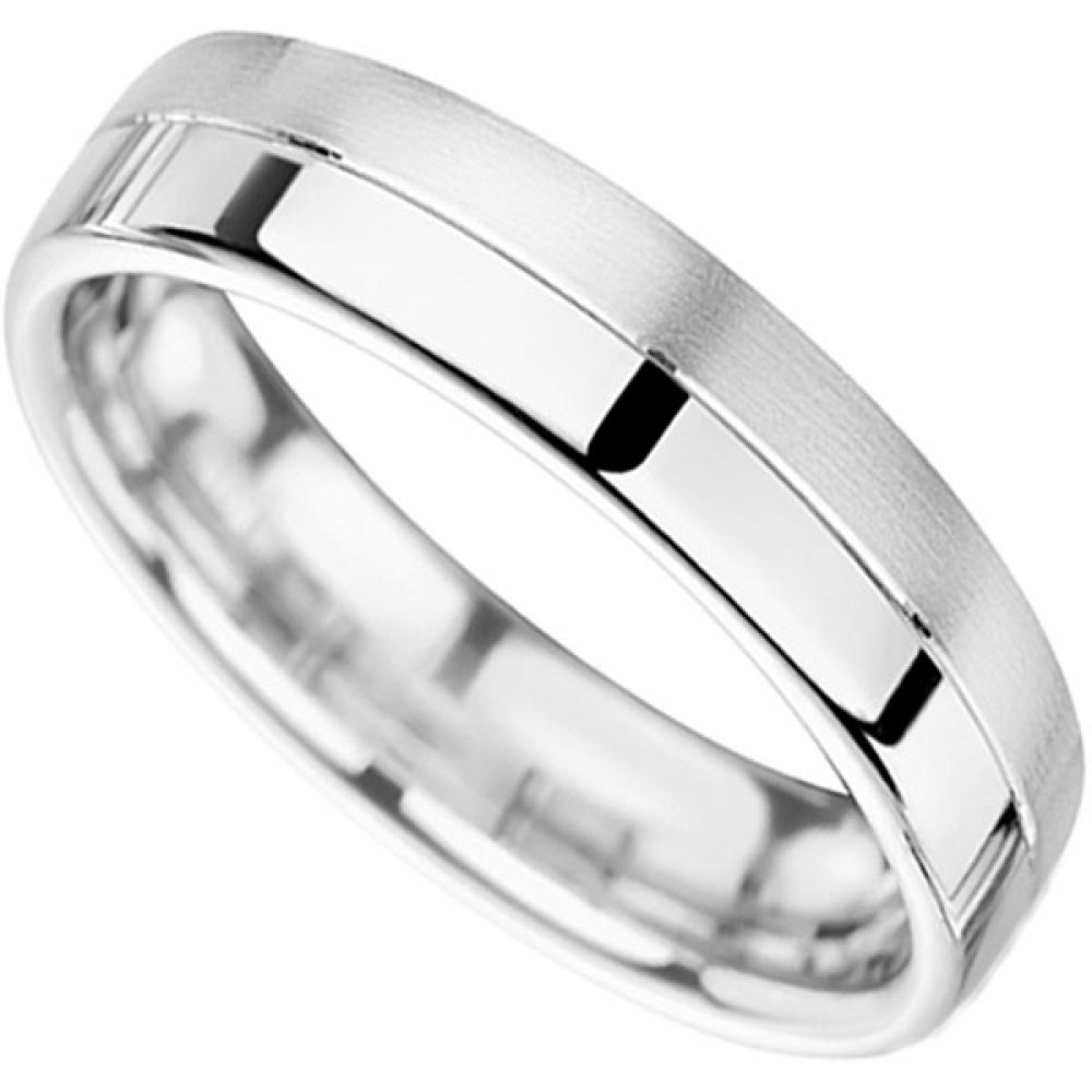 Polished and Satin finished wedding ring