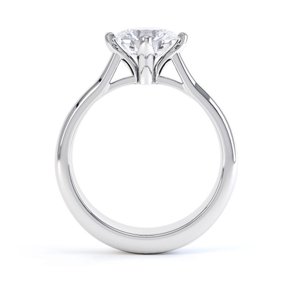 Naomi engagement ring R1D022 compass set side view white gold