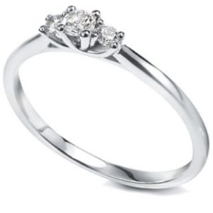 Petite Diamond Trilogy Ring Main Image