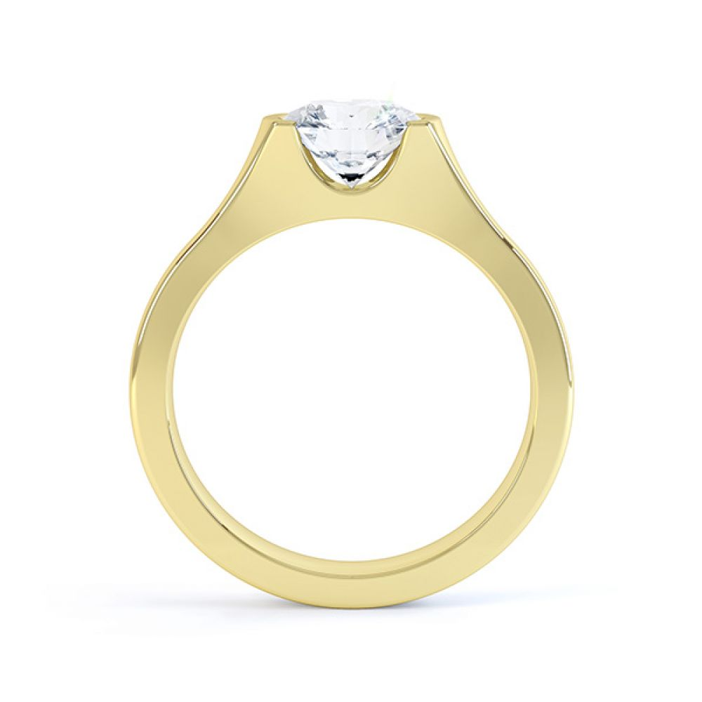 Chloe engagement ring yellow gold side view