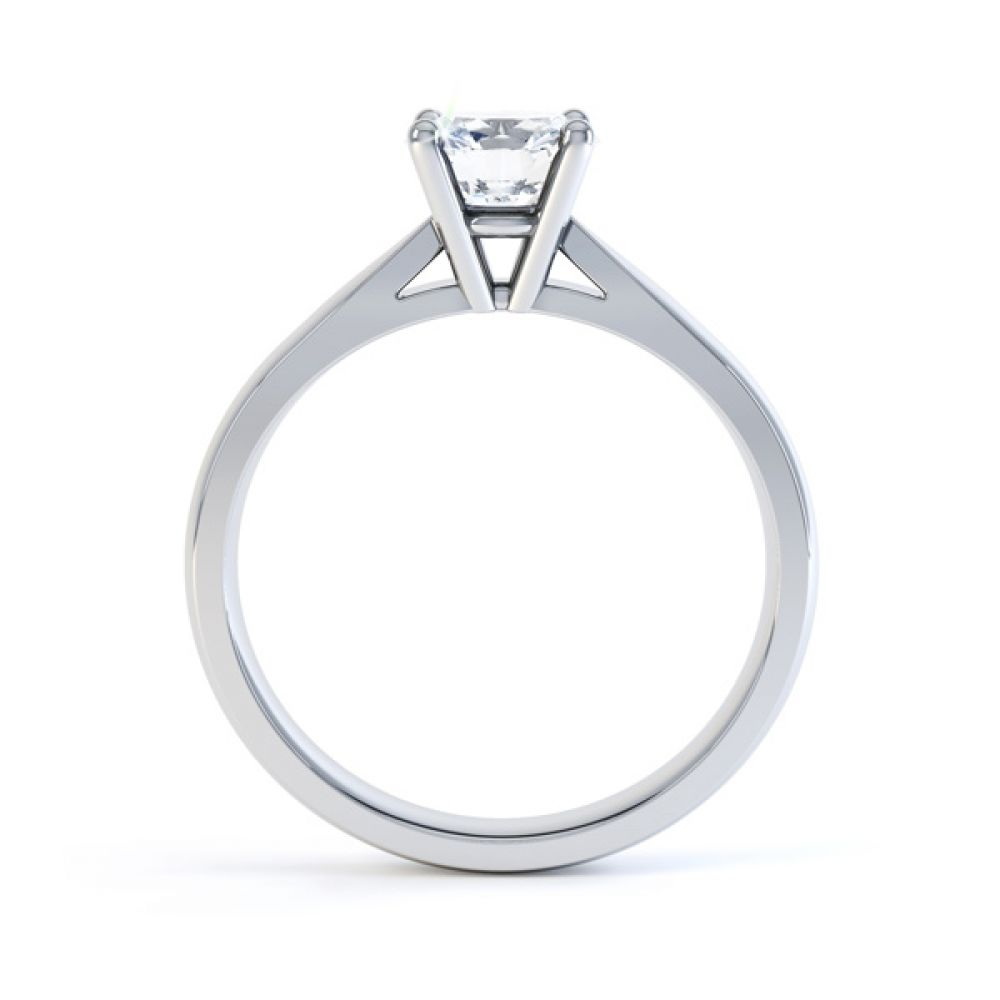 Harmony four claw solitaire engagement ring side view white gold
