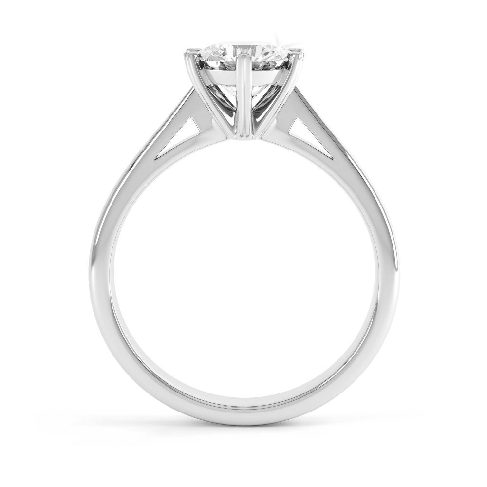 Venus engagement ring side view white gold