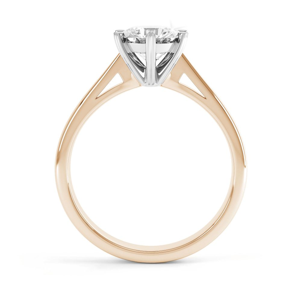 Venus engagement ring side view rose gold