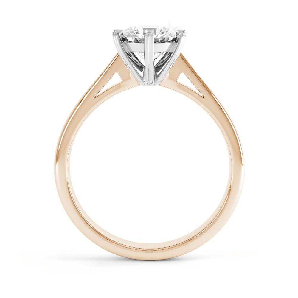 Venus engagement ring side view rose gold