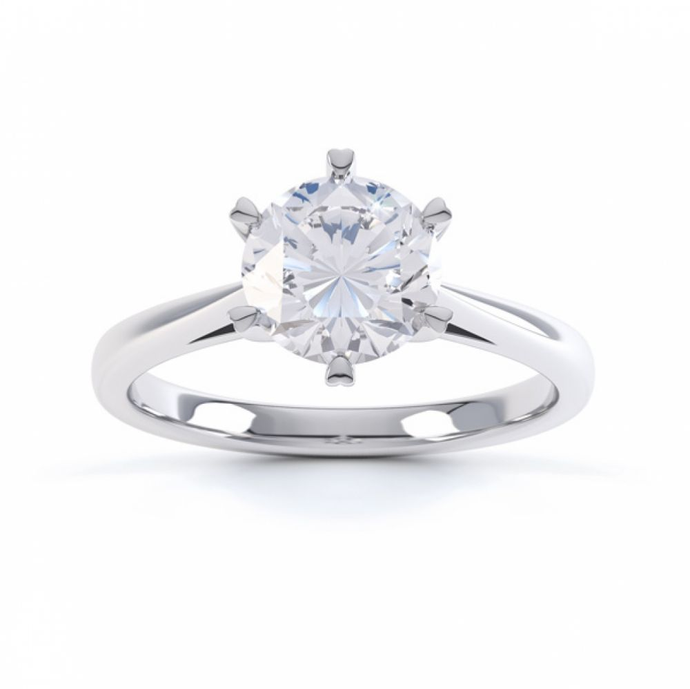 Venus engagement ring top view white gold