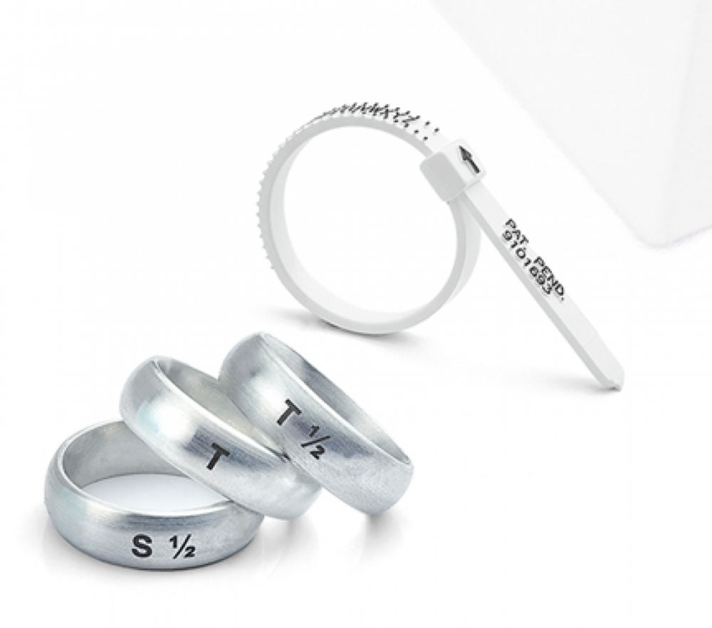 Find your exact ring size when you order our wedding ring size kit