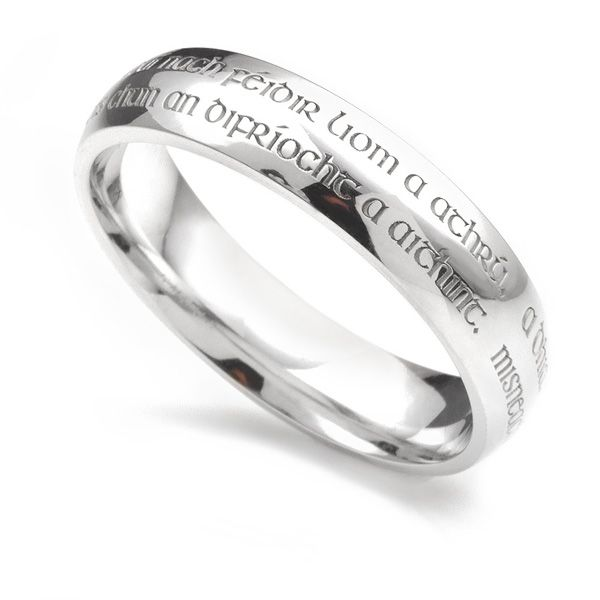 Engraved with Vows Wedding Ring Main Image