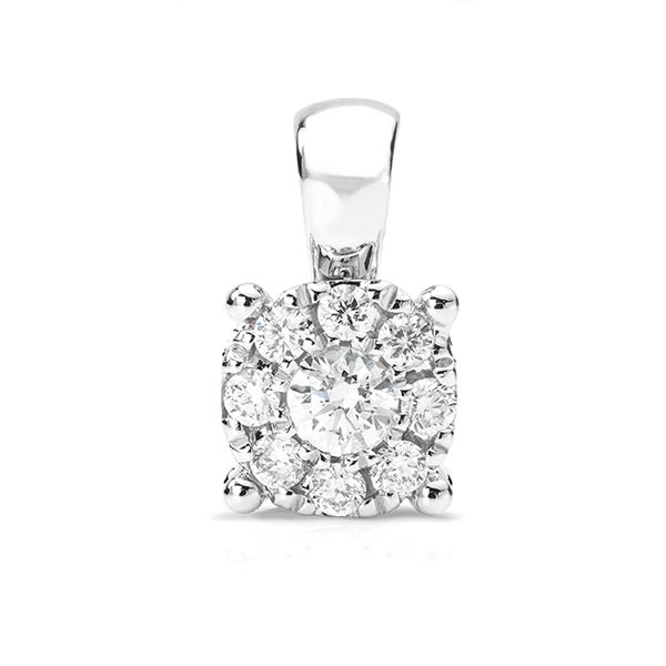 Solitaire Illusion Diamond Pendant  Main Image