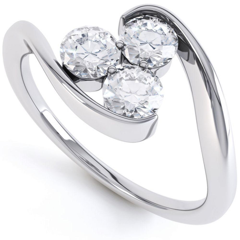 Sascha three stone diamond engagement ring