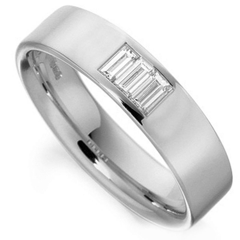 Baguette Cut Channel Wedding Ring
