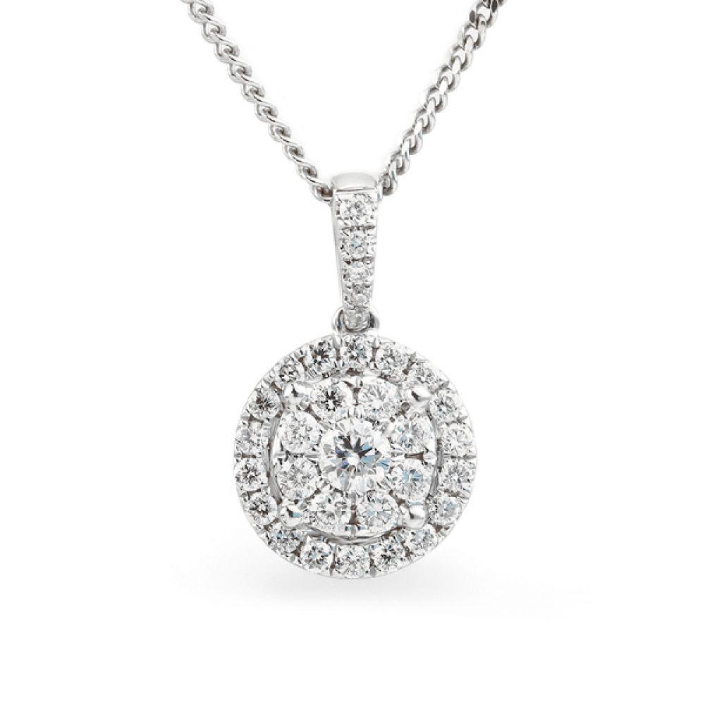 Starla constellation diamond cluster pendant