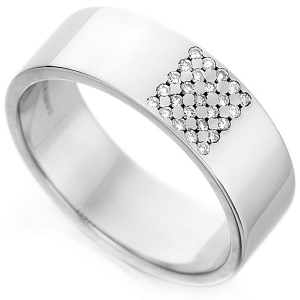 Square Design Diamond Ring