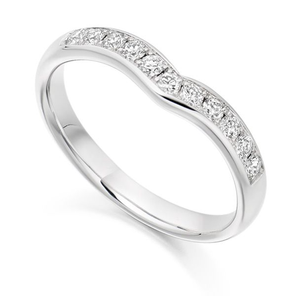 Curved Half Eternity Ring Main Image