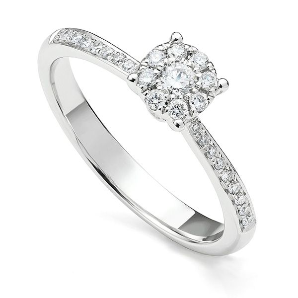 Illusion Solitaire Engagement Ring Main Image