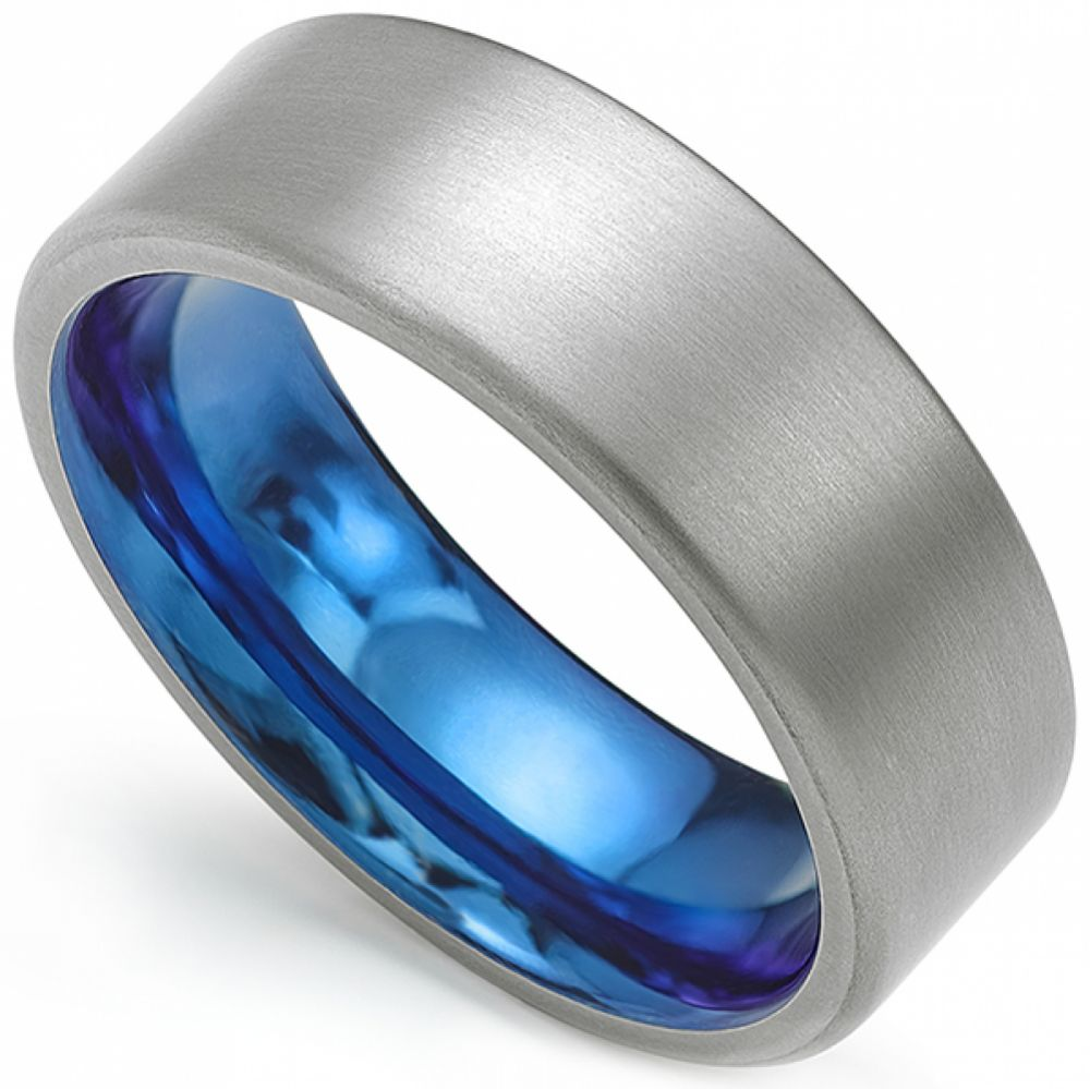 Denim Blue Wedding Ring