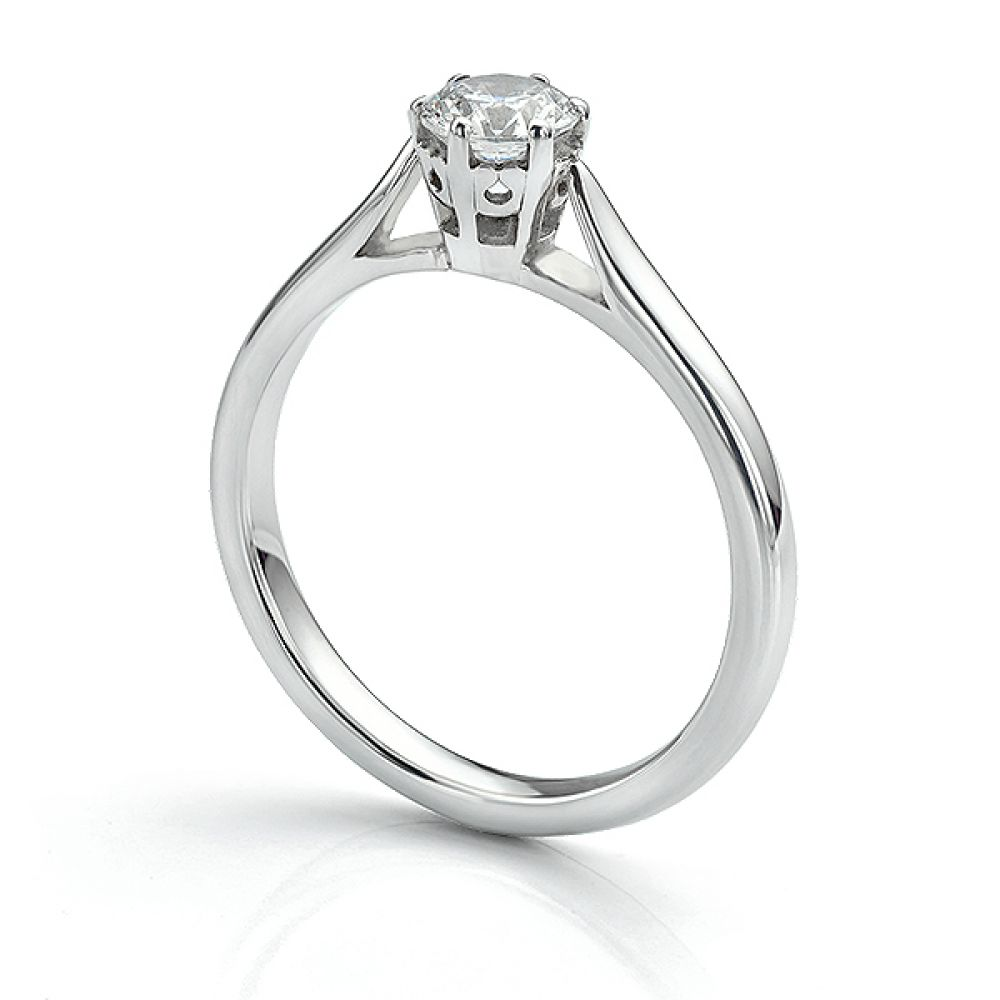 Beatrice diamond engagement ring 950 Platinum with 0.50cts diamond