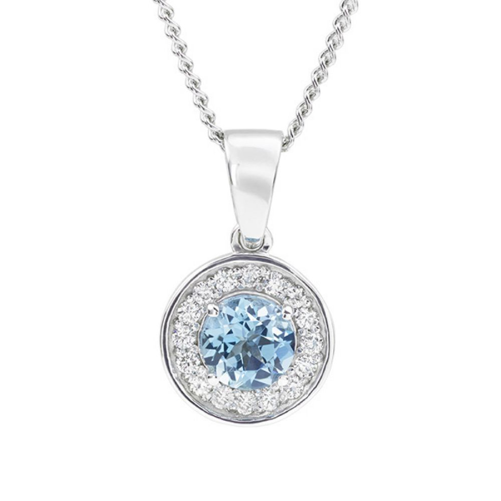 The Something Blue Wedding Pendant