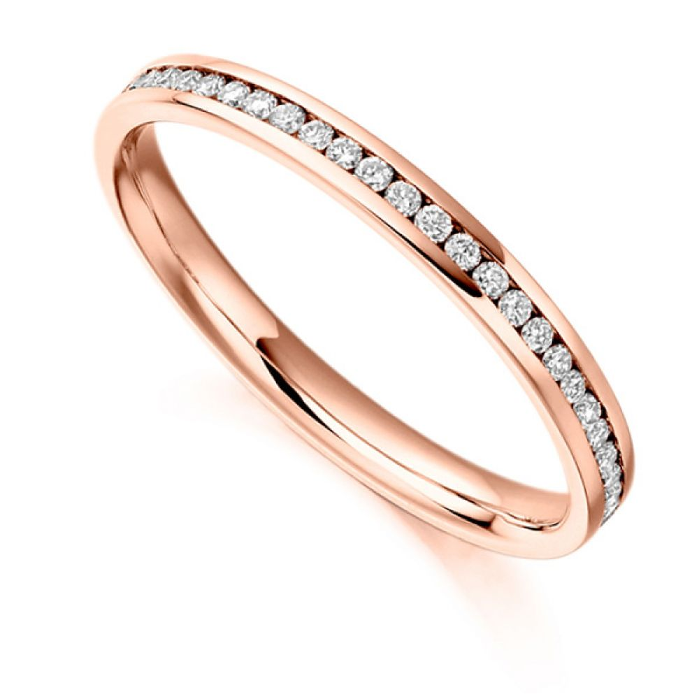 0.35cts Round Diamond Full Eternity Ring In Rose Gold