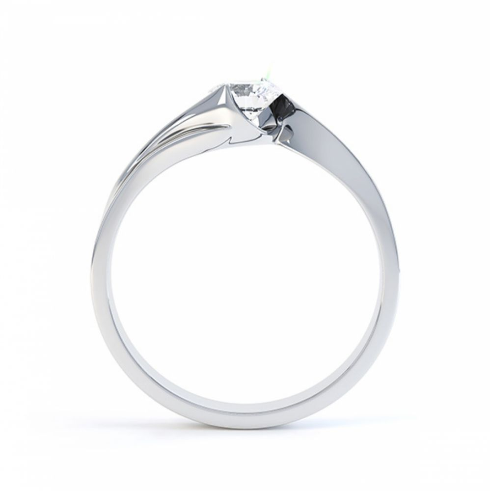 Unity engagement ring side view in white gold