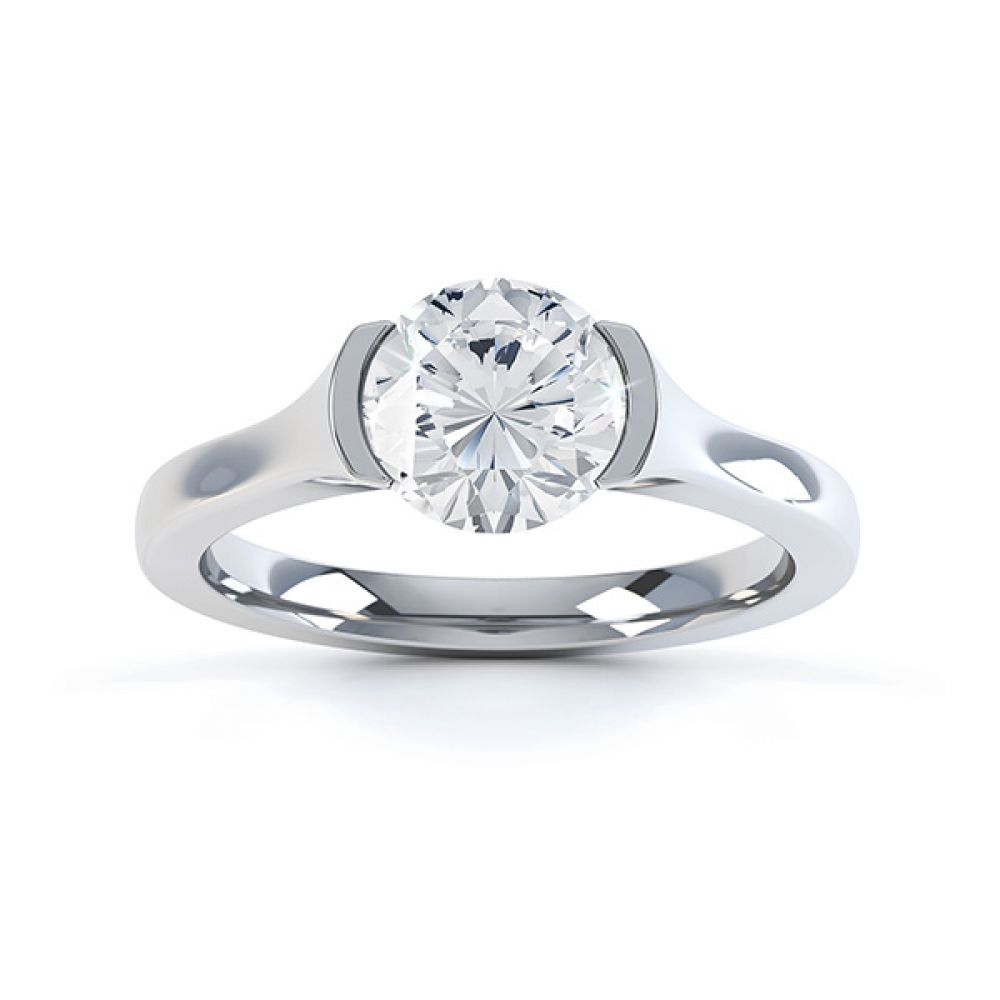 Chloe engagement ring white gold top view