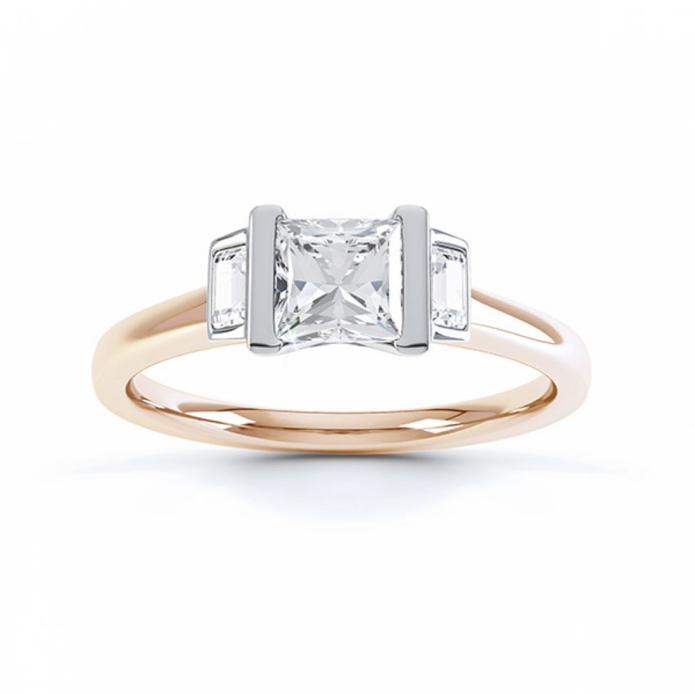 Art Deco engagement ring shown in Fairtrade Rose Gold