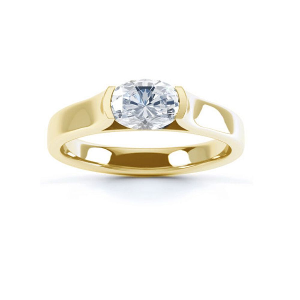 East-West Engagement Top view Yellow Gold