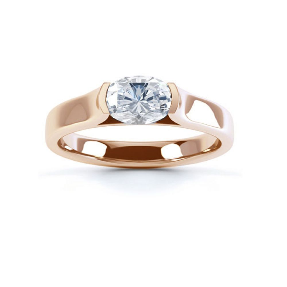 East-West Engagement Top view Rose Gold