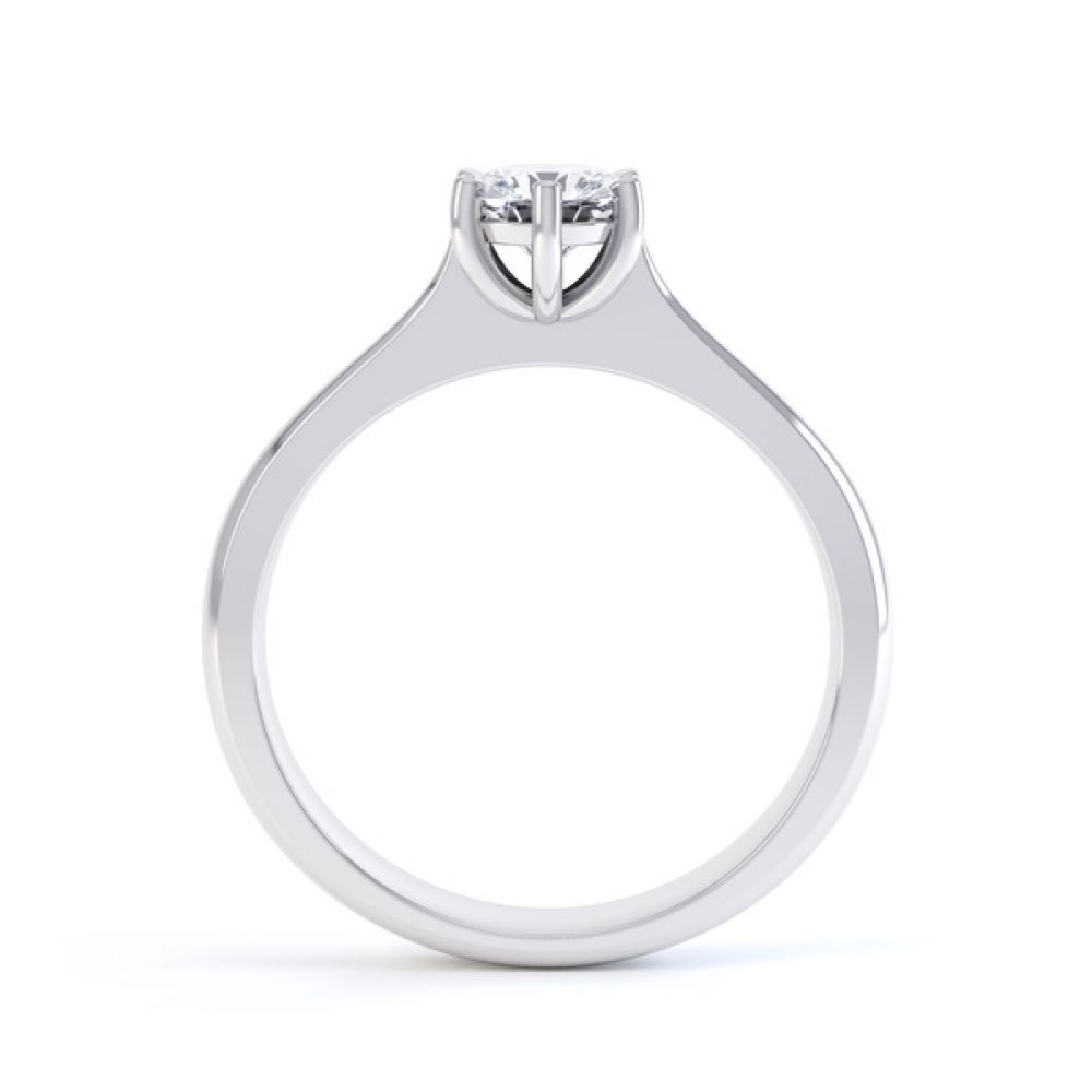 6 Claw Diamond Engagement Ring with Basket Setting Side View